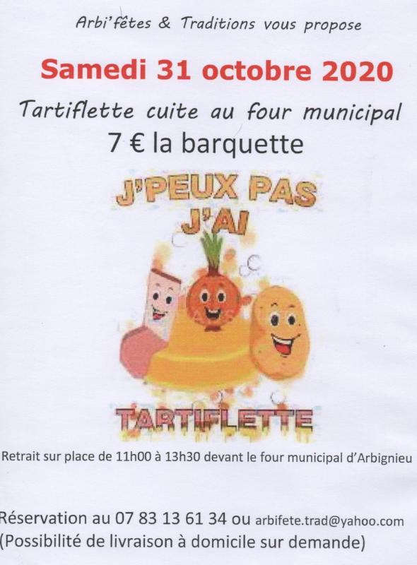 Arbifetes tartiflette 2020 10 31